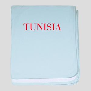Tunisia-Bau red 400 baby blanket