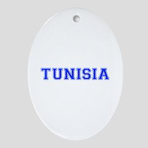Tunisia-Var blue 400 Ornament (Oval)