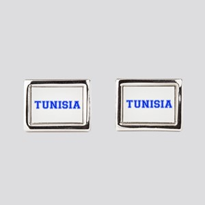 Tunisia-Var blue 400 Rectangular Cufflinks