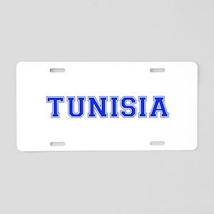 Tunisia-Var blue 400 Aluminum License Plate