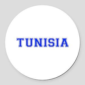 Tunisia-Var blue 400 Round Car Magnet