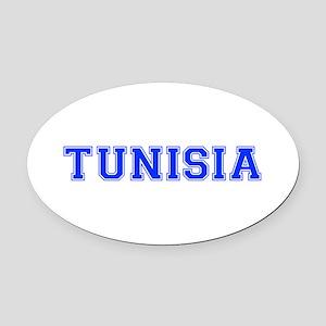 Tunisia-Var blue 400 Oval Car Magnet