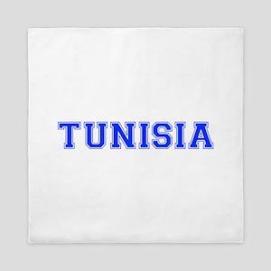 Tunisia-Var blue 400 Queen Duvet