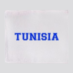 Tunisia-Var blue 400 Throw Blanket
