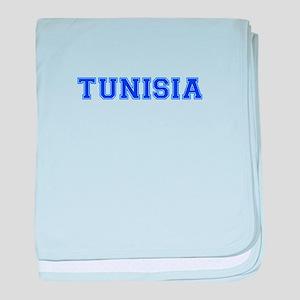 Tunisia-Var blue 400 baby blanket