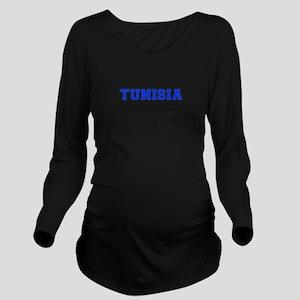 Tunisia-Var blue 400 Long Sleeve Maternity T-Shirt