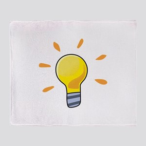 LIGHTBULB Throw Blanket