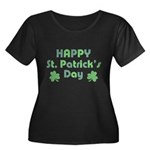 Happy St Women's Plus Size Scoop Neck Dark T-Shirt