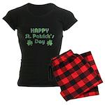 Happy St. Patrick's Day Women's Dark Pajamas