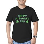 Happy St. Patrick's Da Men's Fitted T-Shirt (dark)