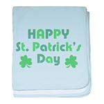 Happy St. Patrick's Day baby blanket