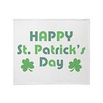Happy St. Patrick's Day Throw Blanket