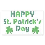 Happy St. Patrick's Day Sticker (Rectangle)