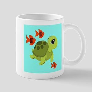 Sea Turtle Fish Ocean Swimmers Mugs