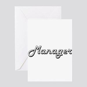 Manager Classic Job Design Greeting Cards