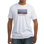 Historic Boston Skyline Fitted T-Shirt