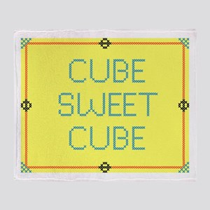 CubeSweetCube Throw Blanket