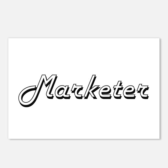 Marketer Classic Job Desi Postcards (Package of 8)