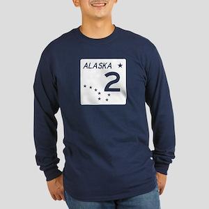 Route 2, Alaska Long Sleeve Dark T-Shirt