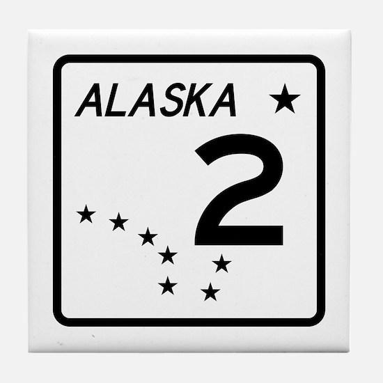 Route 2, Alaska Tile Coaster