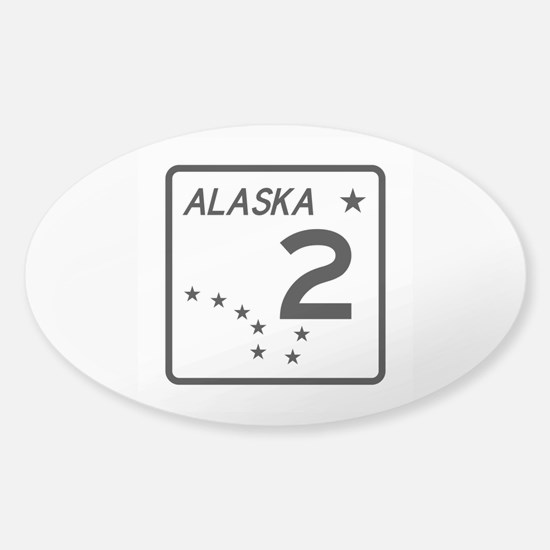 Route 2, Alaska Sticker (Oval)