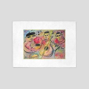Music! Fun, colorful, band! 5'x7'Area Rug