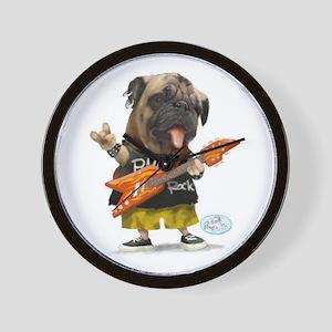 Pug Rocker Wall Clock