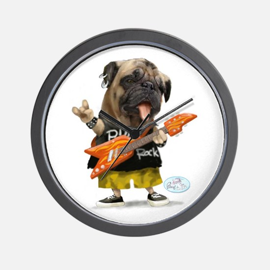 Pug Rocker Wall Clock