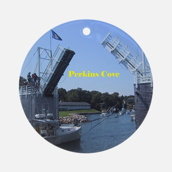 drawbridge in Perkins Cove, Maine Ornament (Round)