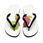 Pink Sea Turtle Flip Flops