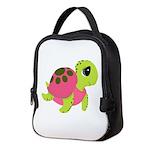 Pink Sea Turtle Neoprene Lunch Bag