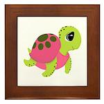 Pink Sea Turtle Framed Tile