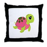 Pink Sea Turtle Throw Pillow