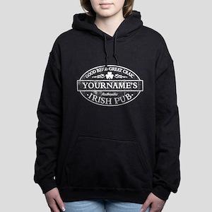 Custom Irish Pub Vintage Women's Hooded Sweatshirt