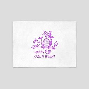 HAPPY OWL A WEEN 5'x7'Area Rug