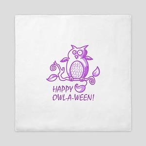 HAPPY OWL A WEEN Queen Duvet