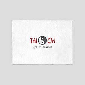 TAI CHI LIFE IN BALANCE 5'x7'Area Rug