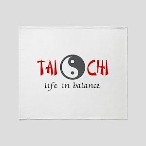 TAI CHI LIFE IN BALANCE Throw Blanket
