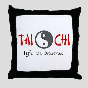 TAI CHI LIFE IN BALANCE Throw Pillow