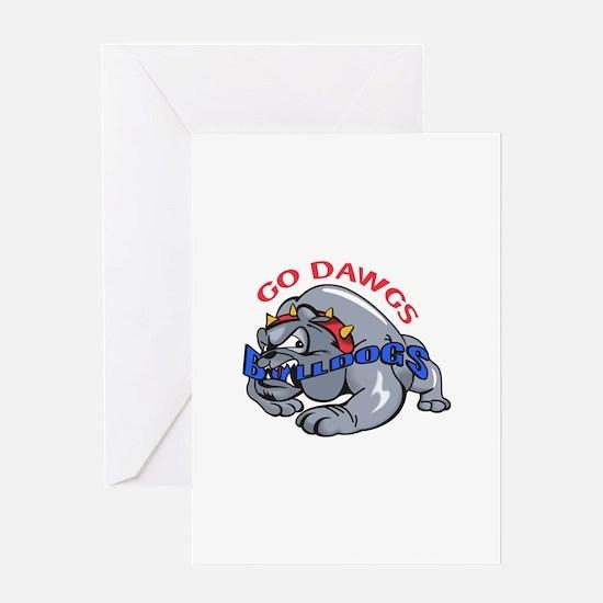 GO DAWGS Greeting Cards
