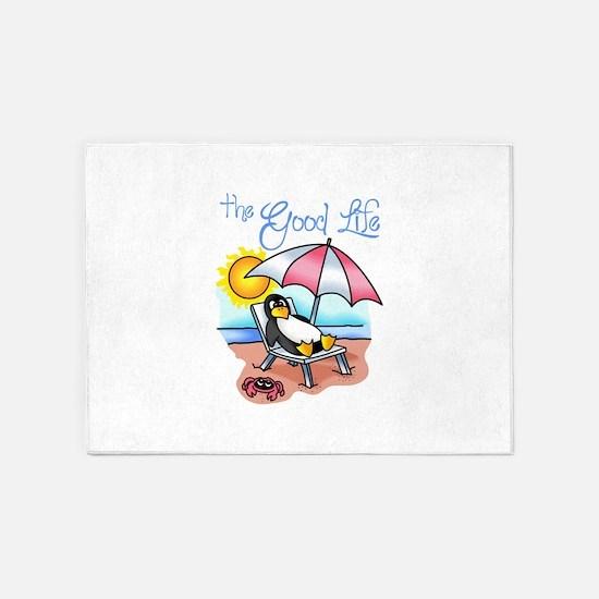 THE GOOD LIFE 5'x7'Area Rug