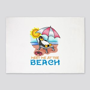 MEET ME AT THE BEACH 5'x7'Area Rug