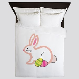 EASTER BUNNY APPLIQUE Queen Duvet