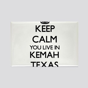 Keep calm you live in Kemah Texas Magnets
