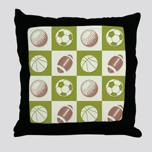 A Whole New Ball Game Throw Pillow