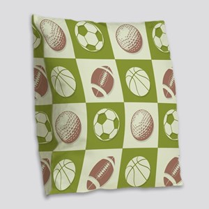 A Whole New Ball Game Burlap Throw Pillow