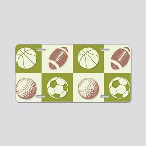A Whole New Ball Game Aluminum License Plate