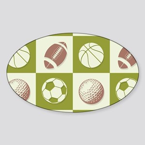 A Whole New Ball Game Sticker (Oval)