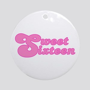 Sweet Sixteen (Retro) Ornament (Round)