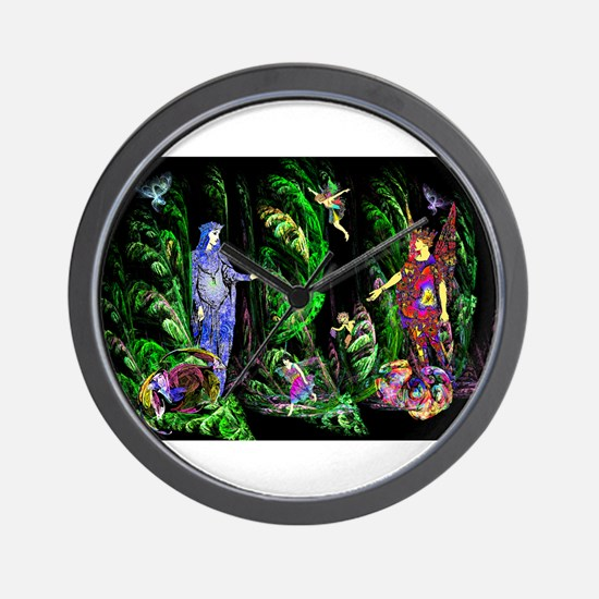 Faery Forest Wall Clock